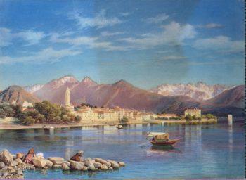 View of Lake Maggiore | Premazzi Luigi | oil painting