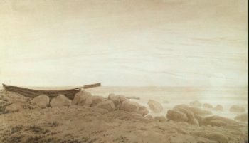 Boat on the Shore. Moonrise | David Friedrich Caspar | oil painting