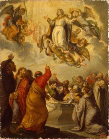 Assumption of the Virgin | Camilo Francisco | oil painting