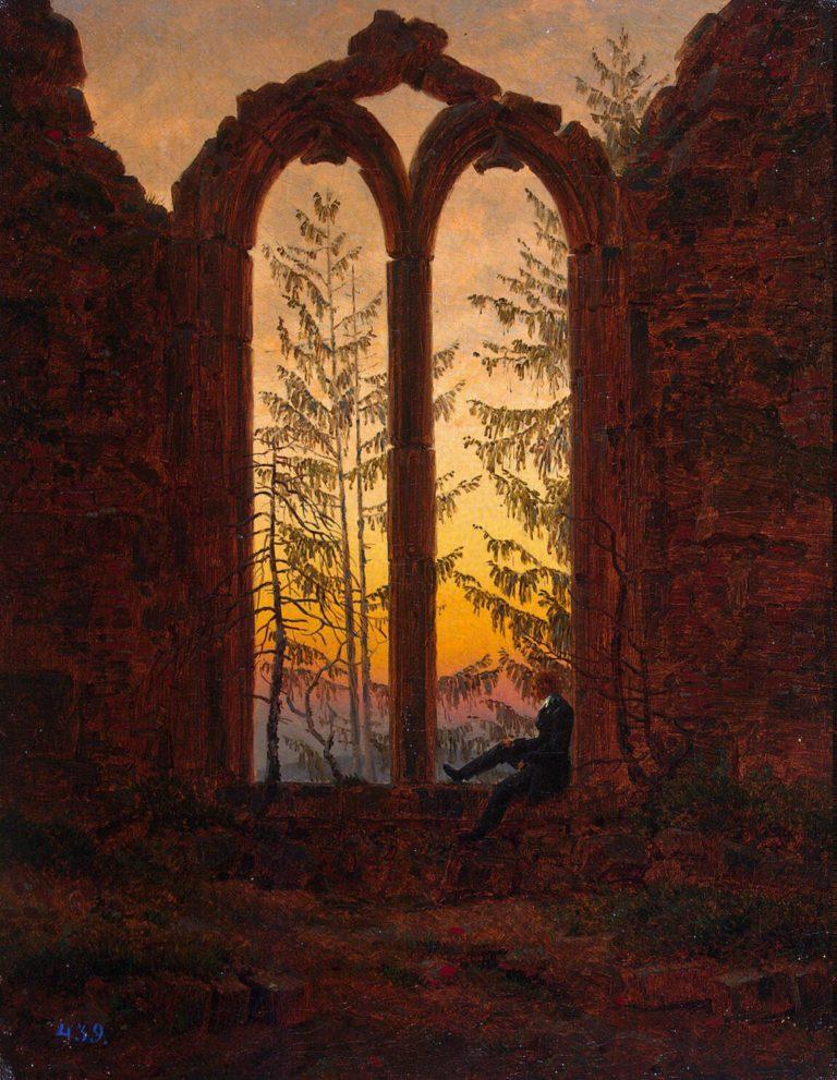 Dreamer (Ruins of the Oybin) | David Friedrich Caspar | oil painting