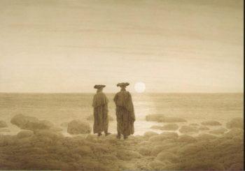 Moonrise (Two Men on the Shore) | David Friedrich Caspar | oil painting