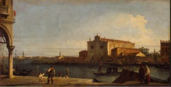 View of Church of San Giovanni dei Battuti on the Isle of Murano | Canal Antonio (Canaletto) | oil painting