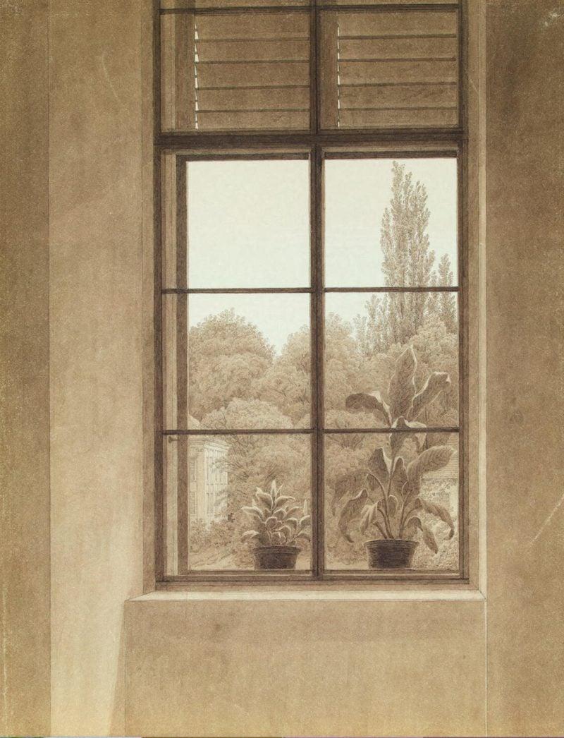 Window Looking over the Park   David Friedrich Caspar   oil painting