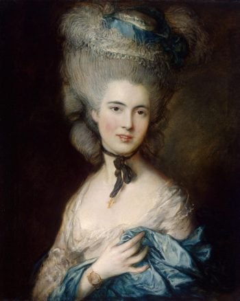 Woman in Blue   Gainsborough Thomas   oil painting