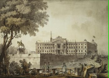 View of St Michaels Castle | Quarenghi Giacomo | oil painting