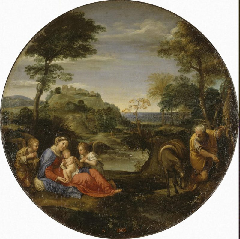 Holy Family (Rest on the Flight into Egypt) | Carracci Annibale | oil painting
