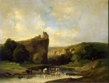 Landscape with a Herd | Quinaux Joseph Verboeckhoven Eugene Joseph | oil painting