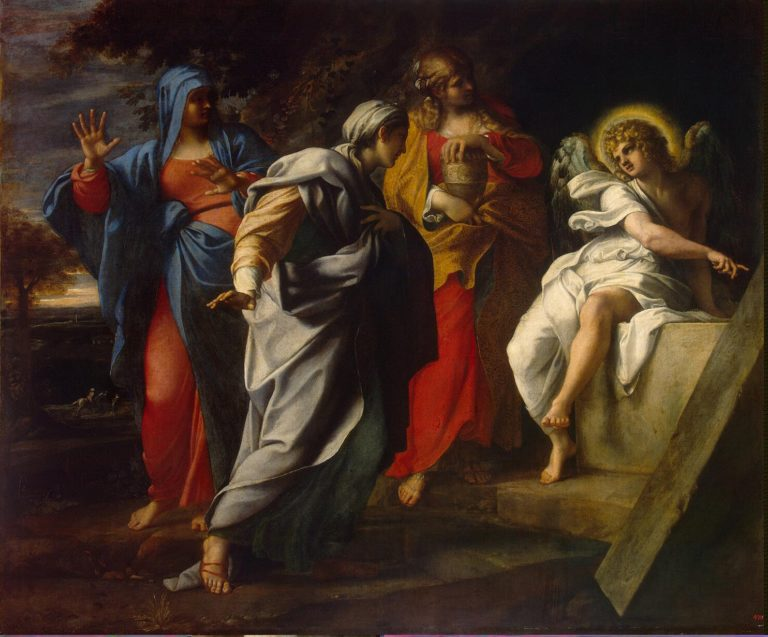 Holy Women at Christ s Tomb | Carracci Annibale | oil painting