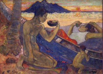 Canoe Tahitian Family (Te vaa) | Paul Gauguin | oil painting