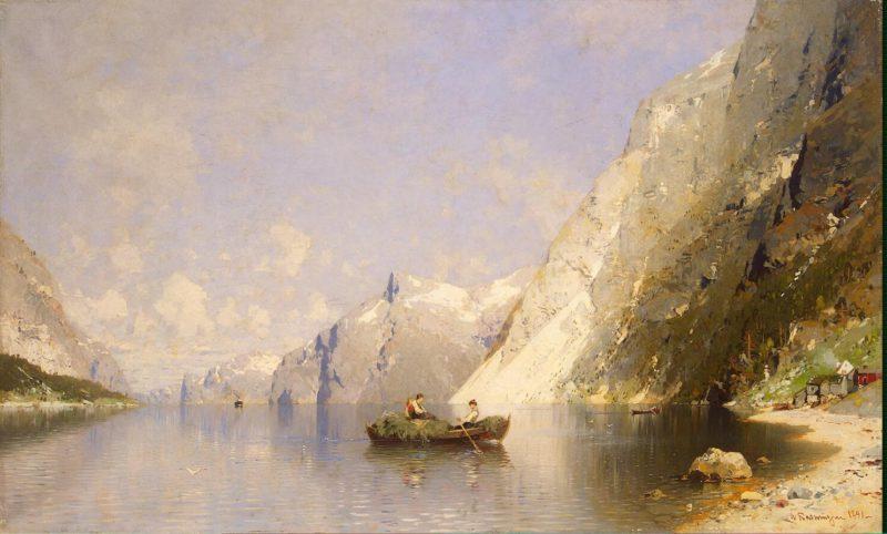 Fiord in Norway   Rasmussen Georg Anton   oil painting
