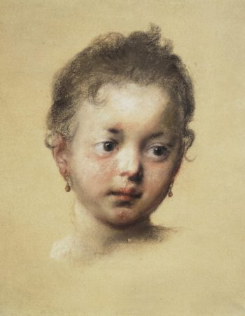 Head of a Child in Face | Carriera Rosalba | oil painting