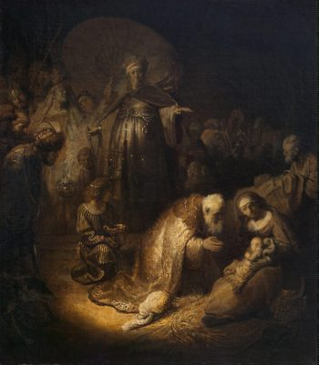 Adoration of the Magi | Rembrandt | oil painting