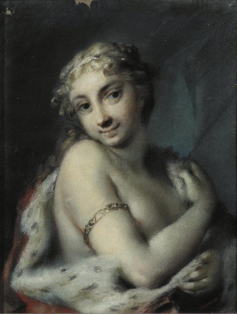 Winter   Carriera Rosalba   oil painting