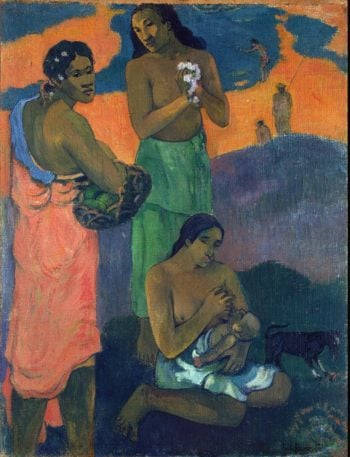 Women on the Seashore (Motherhood) | Paul Gauguin | oil painting