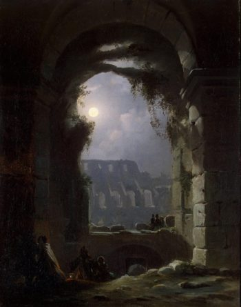 View of the Colosseum by Night | Carus Carl Gustav | oil painting