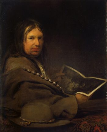 Portrait of a Collector (Self-Portrait with Etching by Rembrandt ) | Gelder Aert de | oil painting