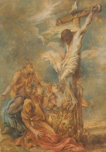 Crucifixion | Castiglione Giovanni Benedetto (Il Grechetto) | oil painting