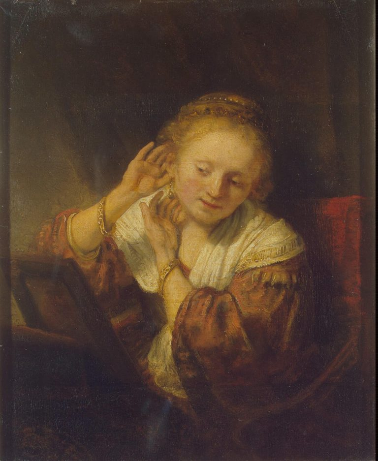 Young Woman with Earrings | Rembrandt | oil painting