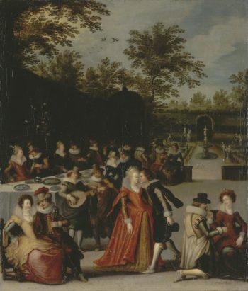 Allegory of the Five Sens | Caullery Louis de | oil painting