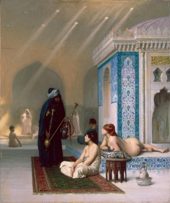 Pool in a Harem | Gerome Jean-Leon | oil painting