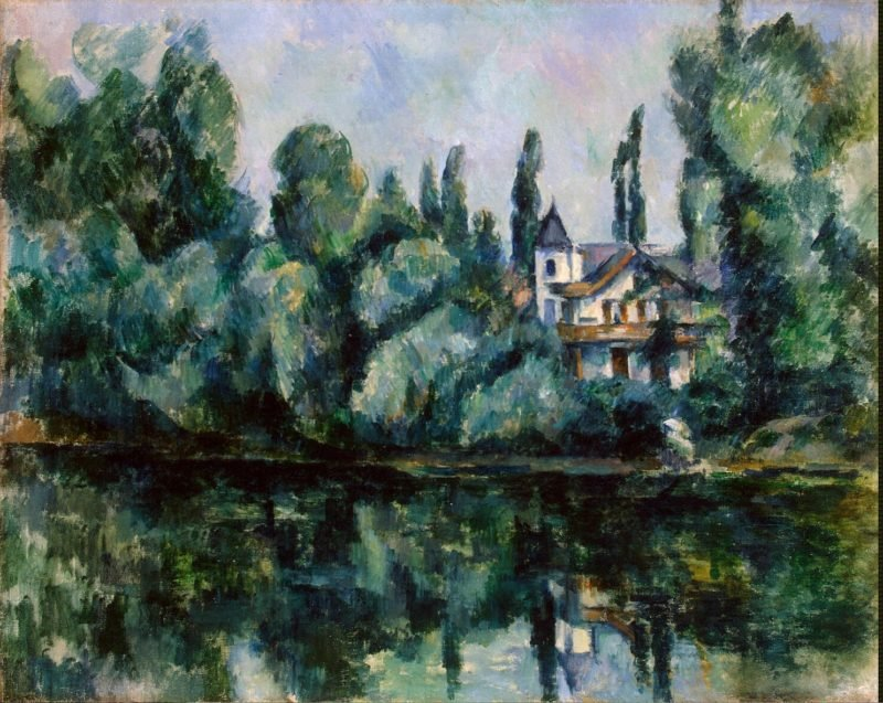 Banks of the Marne (Villa on the Bank of a River) | Cezanne Paul | oil painting