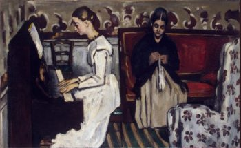 Girl at the Piano (The Overture to Tannhauser) | Cezanne Paul | oil painting