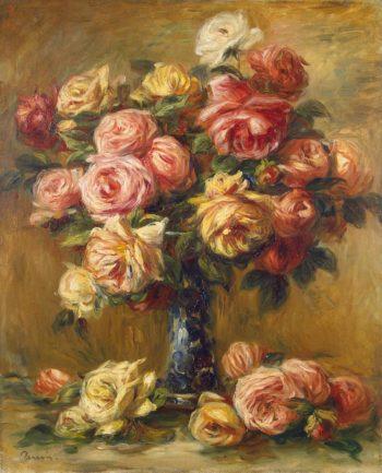 Roses in a Vase | Pierre-Auguste Renoir | oil painting