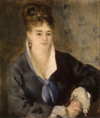 Woman in Black | Pierre-Auguste Renoir | oil painting