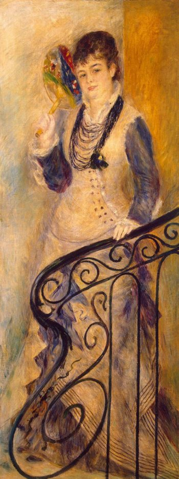 Woman on a Stair | Pierre-Auguste Renoir | oil painting