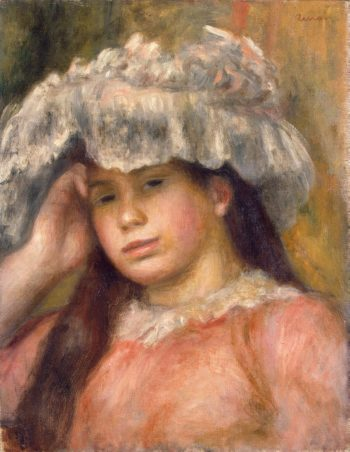 Young Girl in a Hat | Pierre-Auguste Renoir | oil painting