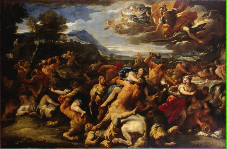 Battle Between the Lapiths and Centaurs | Giordano Luca | oil painting