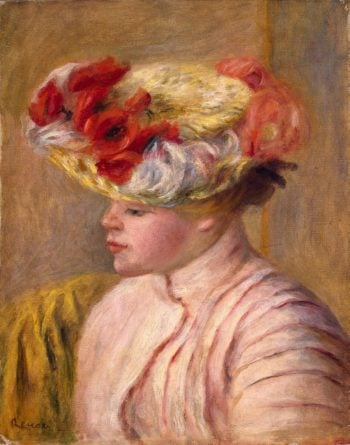 Young Woman in a Flowered Hat | Pierre-Auguste Renoir | oil painting