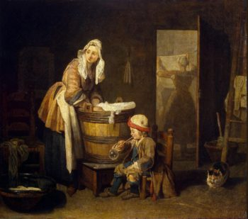 Laundress | Chardin Jean-Simeon | oil painting