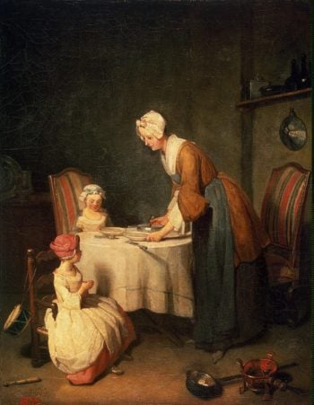 Saying Grase (Le Beneoicite) | Chardin Jean-Simeon | oil painting