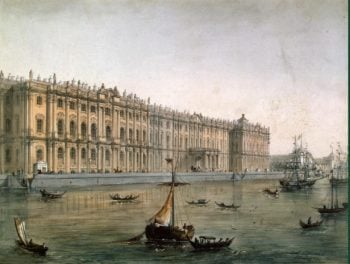 View of the Winter Palace from the Neva River | Charlemagne Joseph (Jossif) Ivanovich | oil painting