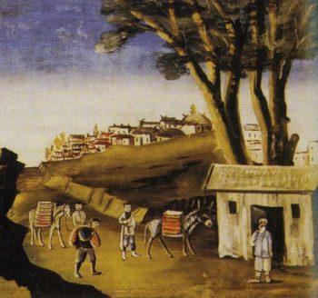 Kakhetia Sagas Alazan Valley 1   Niko Pirosman   oil painting