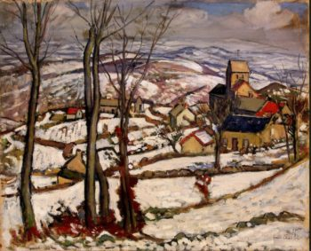 Village at Morvan under Snow | Charlot Louis | oil painting