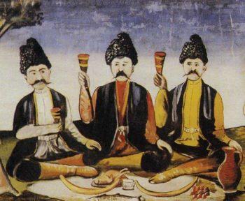 Kakhetia Sagas Alazan Valley Detail   Niko Pirosman   oil painting