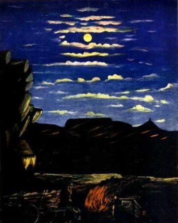 Mountain at Night | Niko Pirosman | oil painting