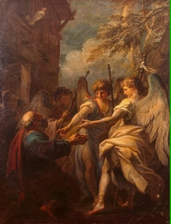 Abraham and the Angels | Ricci Sebastiano | oil painting