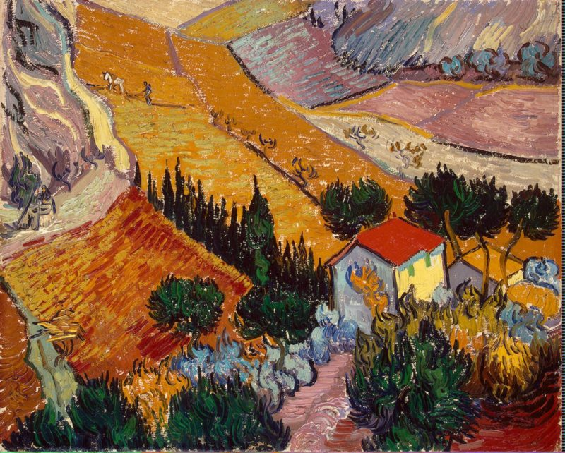 Landscape with House and Ploughman   Vincent van Gogh   oil painting