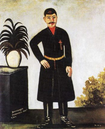 Portrait of Alexander Garanov 1906 | Niko Pirosman | oil painting