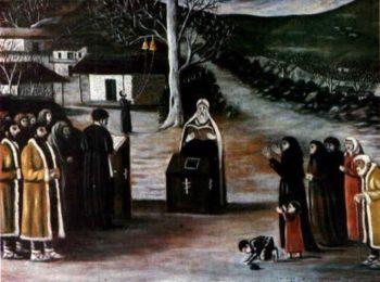 Prayer in a Village   Niko Pirosman   oil painting