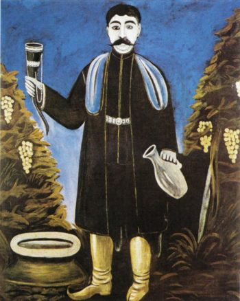 Prince with a Horn of Wine   Niko Pirosman   oil painting
