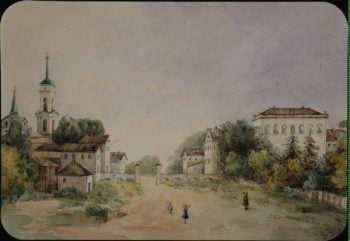 View of the Estate in New Svet the Estate of Count Riboupierre in Smolensk Region | Golenishcheva-Kutusova S. A. | oil painting