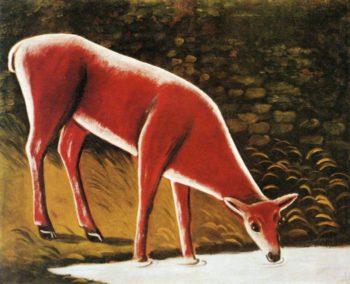 Roe Deer by a Creek | Niko Pirosman | oil painting