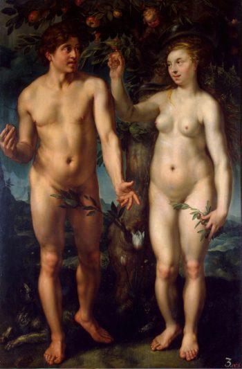 Fall of Man | Goltzius Hendrick | oil painting
