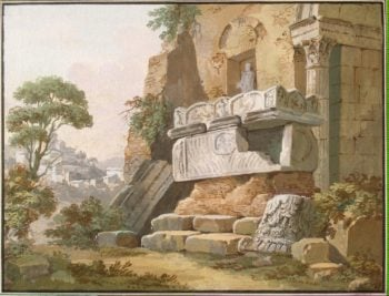Architectural Fantasy | Clerisseau Charles-Louis | oil painting