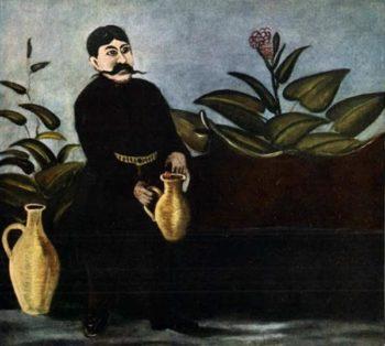 Sarkis Pouring Wine   Niko Pirosman   oil painting