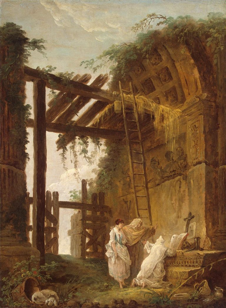 At the Hermits | Hubert Robert | oil painting